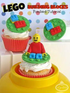 tutorials, lego fondant, legos, cake topper tutorial, lego cake toppers, cupcake toppers, fondant tutorial, fondant cupcakes, fondant lego tutorial