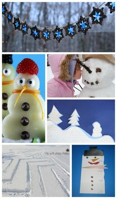 Great ideas & activities for winter day fun both inside and outdoors!