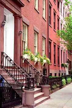Greenwich Village - Washington Square Brownstones (by David Paul Ohmer)    New York City, New York