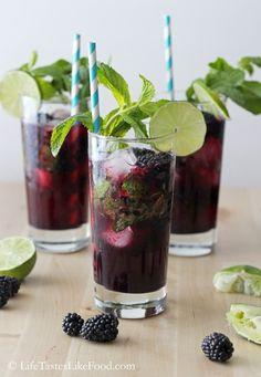 buzzfe food, mint spritzer, blackberri mint