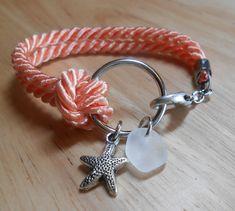 Sea Glass Jewelry - Nautical Ring Bracelet - TRAVELLER. via Etsy.