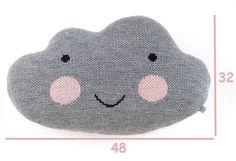 Knit Cloud Pillow  WHITE by kokokoshop on Etsy