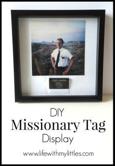 DIY MissionaryTag Display