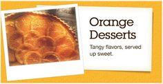 Orange Desserts recipe collection and recipes