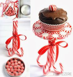 Peppermint Cupcake Stand!