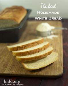 This is seriously the best homemade white bread I have ever made or had. And its pretty simple to make too. You will love this fresh, as toast or in a sandwich #lmldfood