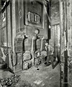 Detroit Stoker emblem on doors-- Chelsea Michigan 1901