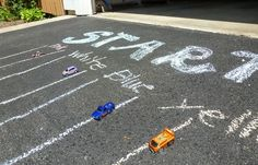Driveway Race Track Birthday Party Game