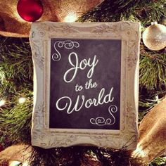 Christmas Chalkboard Sign-  Joy to the World Chalkboard - Christmas Decor