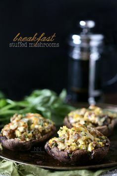 Breakfast Stuffed Mushrooms by Nutmeg Nanny