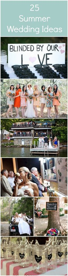 25 of the best summer wedding ideas! Pin now and read later.