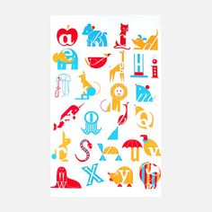 ABCs Print 19x25  by Eleanor Grosch