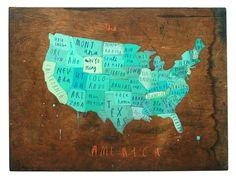 50 states, oliv jeffer, america, oliver jeffers, maps