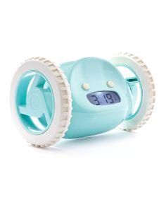 Aqua Clocky. it jumps three feet from a night stand and runs away beeping. lol.