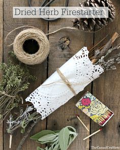 Dried herb fire starter - practical gift idea?