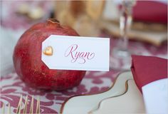 pomegranate place card