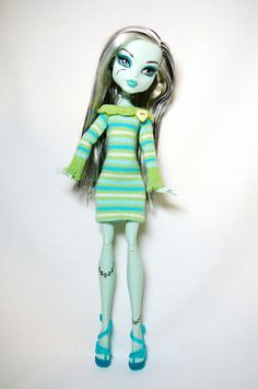 Monster High Doll Clothes  Doll Dress by mizzfitzdolls on Etsy