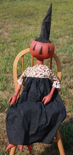 # Primitive Pumpkin Girl Doll