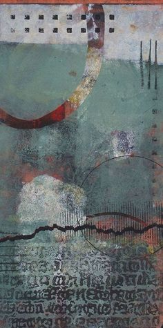 abstract, artists, collag, writing, inspir, paint, mix media, prints, ann moor