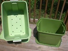 This summer -- Make a container garden for growing cucumbers, tomatoes, etc. in rubbermaid tubs. Great idea if you live in an apartment or just don't have the yard space.