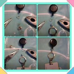 Step by step how to add out amazing lanyard base to your EXISTING retractable lanyard piece! Get yours at www.dyanahall.origamiowl.com thank you Janice Tarquin for the photos! #origamiowl #swAvorski #larnyard #retractable #diy #o2 #getyoursnow #newproduct #fallcollection