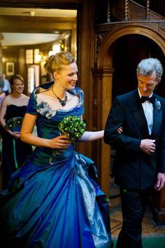 Love the dress #blueweddingdress