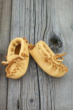 Make that first keepsake pair of shoes handmade moccasins.