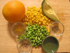 Ingredients for the California Sunshine Salad from my newest book S.A.S.S! Yourself Slim
