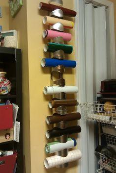 Lisa's Blog About Nothing: Die Cutting Vinyl Storage from IKEA wine racks