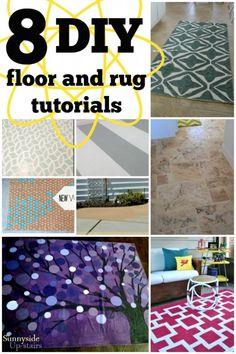 DIY Floor and Rug Tutorials via Remodelaholic.com #flooring #diy