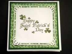 Green and White Hand Embossed Happy Saint Patrick's Day Card https://www.etsy.com/listing/177906812/green-and-white-hand-embossed-happy?ref=shop_home_active_1