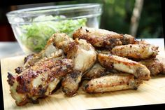 Spicy Green Chili Wings (Actifry)