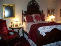 victorian decorating ideas | Victorian bedroom, Red is my color for my Victorian bedroom. Every ...