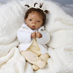 "AFRICAN AMERICAN TINY 10""  BABY DOLL ""DESTINY"" SO TRULY REAL  ASHTON DRAKE"
