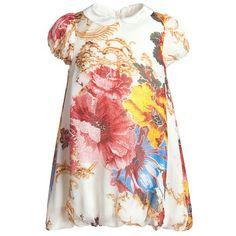 Roberto Cavalli baby <3 babi dress, bubbles, babi girl, babi cloth, roberto cavalli, caval babi, bubbl dress, silk bubbl, floral dresses