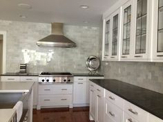 Leaded glass doors & backsplash