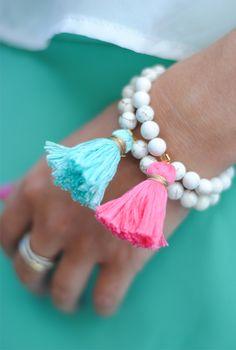 bracelet diy, pearl, southern curl, tassel bracelet