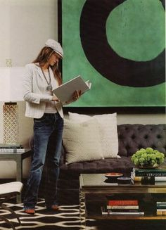 Other than the green...this is great! Kelly Wearstler with Enso by Mario Uribe