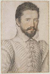 Portrait of a bearded man, half-length, wearing a slashed doublet (Getty Museum)