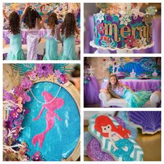 Mermaid birthday party with amazing decorations, cupcakes, food, cake, invitations  more! Via Kara's Party Ideas KarasPartyIdeas.com #mermaidparty