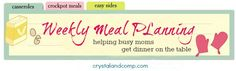 MEAL PLANNING--I am a firm believer in meal planning. Every Monday you will find anew meal plan from mewith links to all theeasy recipesI am preparing for my family.        If you struggle with getting dinner on the table for your family, I can teach you how to meal plan.I am proof that you do not have to be the most organized mom on the planet and it is so much easier than you think!