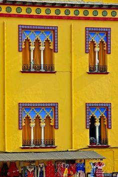 Colorful windows,Cordoba,Spain