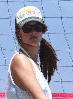 Alessandra Ambrosios beach-ready hairstyle