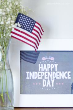Happy Independence Day FREE Chalkboard Printable by Yellow Bliss Road for Tatertots and Jello #DIY #Printables #FREE