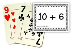 "Math Coachs Corner: Ten Plus Card Game. This little game, based on a Van de Walle activity, addresses two important common core standards: (1) K.NBT.1, compose and decompose numbers from 11 to 19 into tens and some further ones, and (2) 1.NBT.2, understand that the two digits of a two-digit number represent amounts of tens and ones.  All you need is a standard deck of cards and the free ""10+"" cards included in this post."