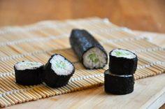"""raw cauliflower """"rice"""" sushi."""