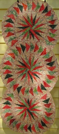 Seasonal Table Runner ~ Quiltworx.com, made by Certified Instructor, Jackie Kunkel