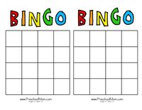Friendship Day August 2 - use blank bingo grids, add names of everyone ...