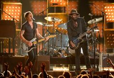 Keith Urban and Gary Clark Jr. perform on the 56th Annual GRAMMY Awards on Jan. 26 in Los Angeles
