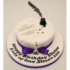 Writer cake